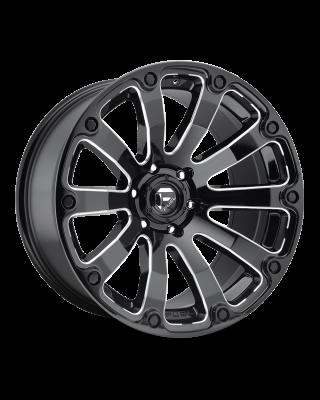 """FUEL D598 """"DIESEL"""" Wheel 20x10 Gloss Black & Milled for 07-up Jeep Wrangler JK, JL & JT Gladiator - D59820007347"""