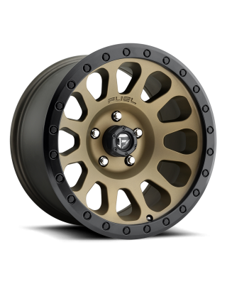 "FUEL D600 ""VECTOR"" Wheel 17x9 in Satin Bronze with Black Lip for 07-up Jeep Wrangler JK, JL & JT Gladiator - D60017907345"
