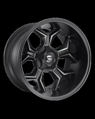"FUEL D605 ""AVENGER"" Wheel 20x10 in Satin Black with Dark Tint for 07-up Jeep Wrangler JK, JL & JT Gladiator - D60520002647"