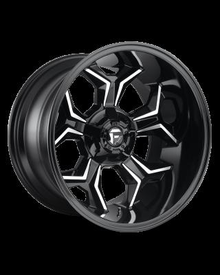 "FUEL D606 ""AVENGER"" Wheel 20x10 in Gloss Black & Milled for 07-up Jeep Wrangler JK, JL & JT Gladiator - D60620002647"