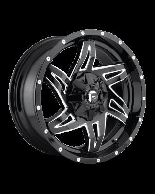 """FUEL D613 """"ROCKER"""" Wheel 20x10 in Gloss Black & Milled for 07-up Jeep Wrangler JK, JL & JT Gladiator - D61320002647"""