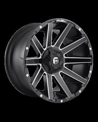 """FUEL D616 """"CONTRA"""" Wheel 22x10 in Satin Black & Milled for 07-up Jeep Wrangler JK, JL & JT Gladiator - D61622002647"""