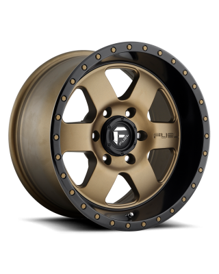 "FUEL D617 ""PODIUM"" Wheel 17x9 in Satin Bronze with Black Lip for 07-up Jeep Wrangler JK, JL & JT Gladiator - D61717907345"