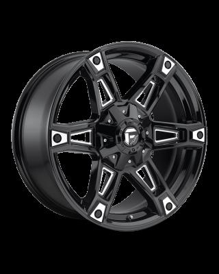 "FUEL D622 ""DAKAR"" Wheel 20x9 Gloss Black & Milled for 07-up Jeep Wrangler JK, JL & JT Gladiator - D62220902650"