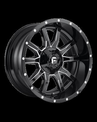 """FUEL D627 """"VANDAL"""" Wheel 20x10 in Gloss Black & Milled for 07-up Jeep Wrangler JK, JL & JT Gladiator - D62720002647"""
