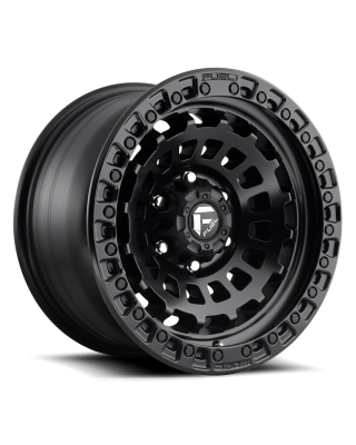 "FUEL D633 ""ZEPHYR"" Wheel 17x9 in Satin Black for 07-up Jeep Wrangler JK, JL & JT Gladiator - D63317907545"