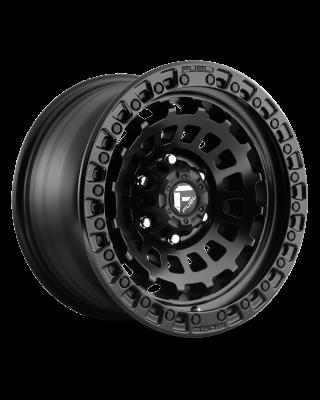 """FUEL D633 """"ZEPHYR"""" Wheel 17x9 in Satin Black for 07-up Jeep Wrangler JK, JL & JT Gladiator - D63317907550"""