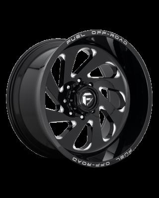"""FUEL D637 """"VORTEX"""" Wheel 20x12 in Gloss Black & Milled for 07-up Jeep Wrangler JK, JL & JT Gladiator - D63720207347"""