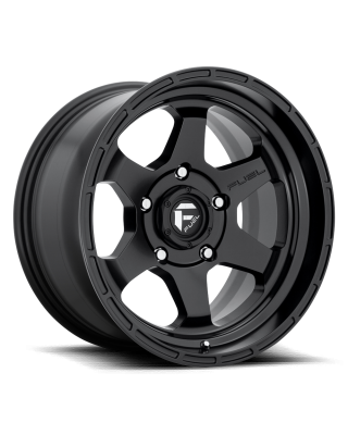 "FUEL D664 ""SHOK"" Wheel 17x10 in Satin Black for 07-up Jeep Wrangler JK, JL & JT Gladiator - D66417007547"