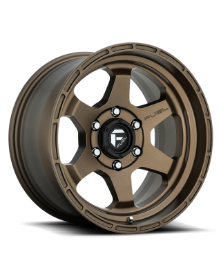 "FUEL D666 ""SHOK"" Wheel 17x9 in Satin Bronze for 07-up Jeep Wrangler JK, JL & JT Gladiator - D66617907550"