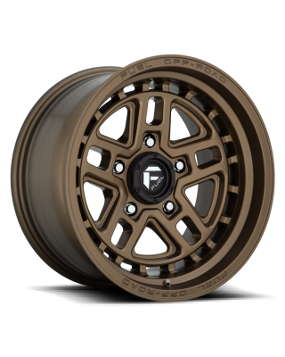 "FUEL D669 ""NITRO"" Wheel 17x9 in Satin Bronze for 07-up Jeep Wrangler JK, JL & JT Gladiator - D66917907545"