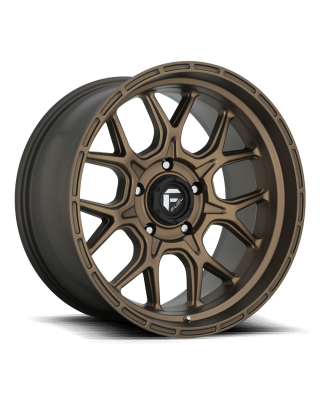 "FUEL D671 ""TECH"" Wheel 17x9 in Satin Bronze for 07-up Jeep Wrangler JK, JL & JT Gladiator - D67117907550"