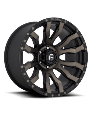 "FUEL D674 ""BLITZ"" Wheel 18x9 in Satin Black with Dark Tint for 07-up Jeep Wrangler JK, JL & JT Gladiator - D67318907545"