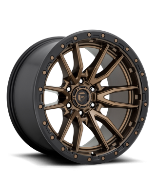 "FUEL D681 ""REBEL"" Wheel 17x9 in Satin Bronze with Black Lip for 07-up Jeep Wrangler JK, JL & JT Gladiator - D68117907550"