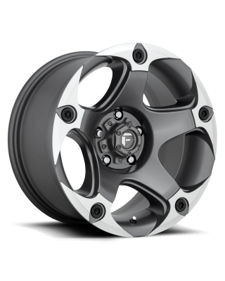 "FUEL D684 ""MENACE"" Wheel 17x9 in Satin Anthracite & Machined for 07-up Jeep Wrangler JK, JL & JT Gladiator - D68417907545"