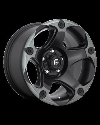 "FUEL D685 ""MENACE"" Wheel 17x9 in Satin Black with Dark Tint for 07-up Jeep Wrangler JK, JL & JT Gladiator - D68517907545"