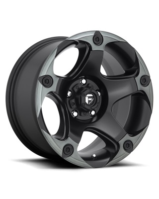 "FUEL D685 ""MENACE"" Wheel 17x9 in Satin Black with Dark Tint for 07-up Jeep Wrangler JK, JL & JT Gladiator - D68517907550"
