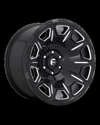 "FUEL D688 ""VENGEANCE"" Wheel 20x10 in Gloss Black & Milled for 07-up Jeep Wrangler JK, JL & JT Gladiator - D68820007547"