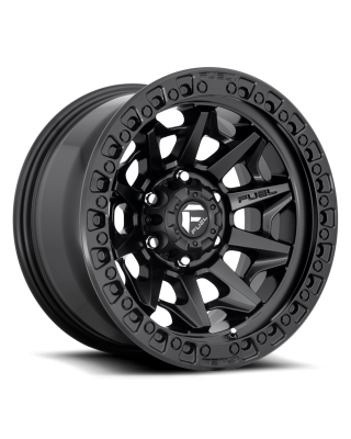 "FUEL D694 ""COVERT"" Wheel 17x9 in Satin Black with Black Ring for 07-up Jeep Wrangler JK, JL & JT Gladiator - D69417907545"