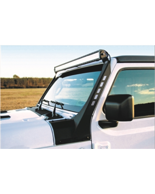 "50"" A-Pillar Windshield Light Bar Mount Black Textured for 18-up Jeep Wrangler JL,  JL Unlimited & JT Gladiator - 600-56-0819"
