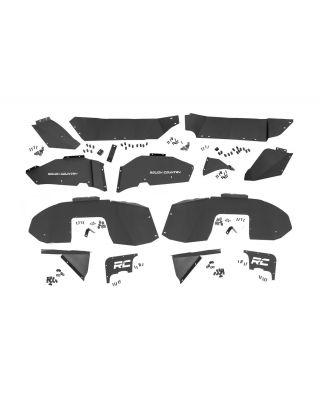 Rough Country Front & Rear Inner Fender Liner Kit for 18-up Jeep Wrangler JL & JL Unlimited - 10499