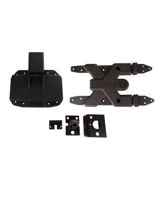 "RUGGED RIDGE ""SPARTACUS"" Complete Hinged Tire Carrier in Textured Black for 18-19 Jeep Wrangler JL & JL Unlimited - 11546.55"