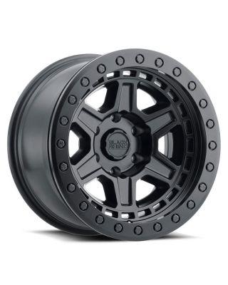 """BLACK RHINO """"RENO"""" BEADLOCK Wheel 17x8.5 in Satin Black for 07-up Jeep Wrangler JK, JL & JT Gladiator - 1785REN-85127M71"""