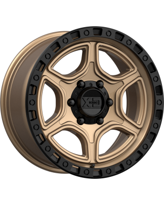 "XD139 ""PORTAL"" Wheel 17x9 in Satin Bronze & Black Lip for 07-up Jeep Wrangler JK, JL & JT Gladiator - XD13979050612N"
