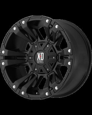 """XD822 """"MONSTER II"""" Wheel 17x9 in Satin Black for 07-up Jeep Wrangler JK, JL & JT Gladiator - XD82279054712N"""