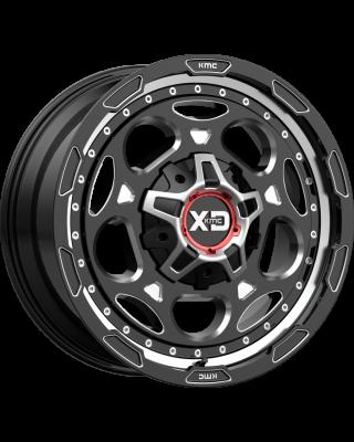 "XD837 ""DEMODOG"" Wheel 20x10 in Gloss Black & Milled for 07-up Jeep Wrangler JK, JL & JT Gladiator - XD83721035318N"