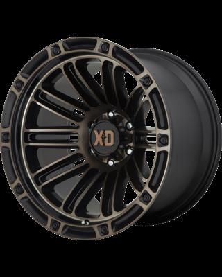 """XD846 """"DOUBLE DEUCE"""" Hub Centric Wheel 20x10 in Satin Black with Dark Tint for 07-up Jeep Wrangler JK, JL & JT Gladiator - XD84621050618N"""