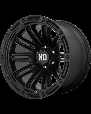 """XD846 """"DOUBLE DEUCE"""" Hub Centric Wheel 20x12 in Satin Black for 07-up Jeep Wrangler JK, JL & JT Gladiator - XD84621250744N"""