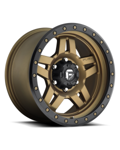 "FUEL D583 ""ANZA"" Wheel 17x8.5 in Satin Bronze with Black Ring for 07-up Jeep Wrangler JK, JL & JT Gladiator - D58317857345"