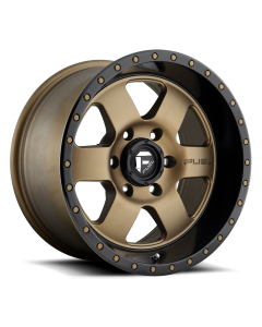 "FUEL D617 ""PODIUM"" Wheel 20x9 in Satin Bronze with Black Lip for 07-up Jeep Wrangler JK, JL & JT Gladiator - D61720907350"