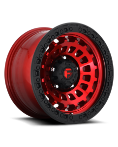 "FUEL D632 ""ZEPHYR"" Wheel 20x9 in Candy Red with Black Lip for 07-up Jeep Wrangler JK, JL & JT Gladiator - D63220907550"