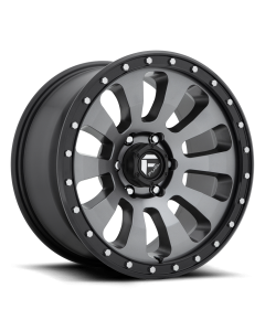 """FUEL D648 """"TACTIC"""" Wheel 20x9 in Satin Anthracite with Black Lip for 07-up Jeep Wrangler JK, JL & JT Gladiator - D64820907550"""