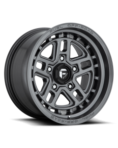 "FUEL D668 ""NITRO"" Wheel 17x9 in Satin Anthracite for 07-up Jeep Wrangler JK, JL & JT Gladiator - D66817907545"